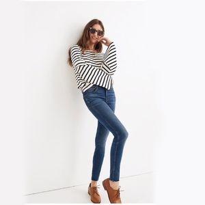 "Madewell 9"" Mid-Rise Skinny Jeans Paloma Raw Hem"